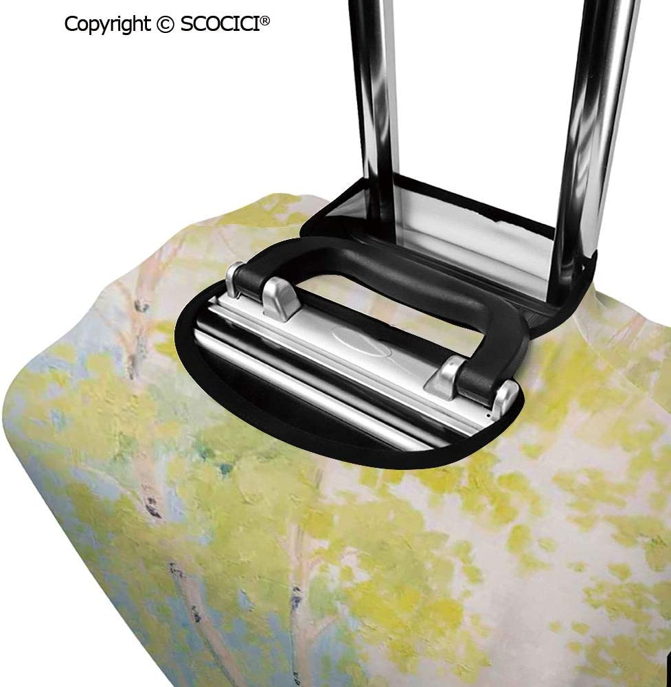 SCOCICI Luggage Suitcase Elastic Protective Covers Planet Earth in Sun Rays Elements Astronomy Atmosphere Sky Satellite Moon Lunar Image for Men Women Travel Business