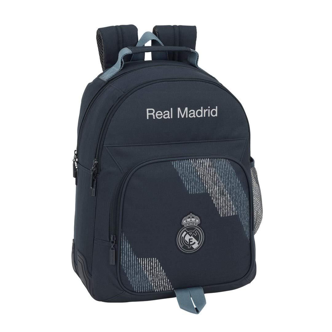 Safta- Mochila Doble Adaptable A Carro Real Madrid, Color Azul, 42 cm (611834773): Amazon.es: Juguetes y juegos