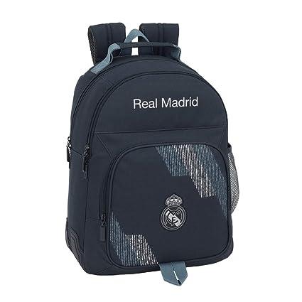 Safta Mochila Doble Adaptable A Carro Real Madrid Color Azul 42 cm 611834773: Amazon.es: Juguetes y juegos