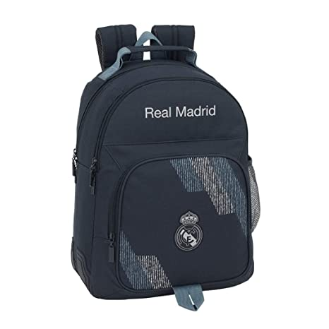Safta Mochila Doble Adaptable A Carro Real Madrid Color Azul 42 cm 611834773