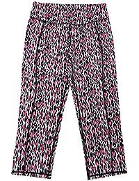 Performance Pink Leopard Workout Capri Leggings Yoga Stretch Pants