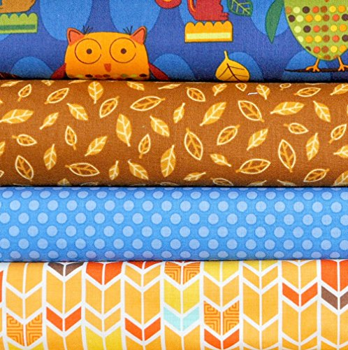 Animal Party Too Summer 4 Fabric Fat Quarters Bundle by Amy Schimler for Robert Kaufman