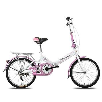 XQ F300 Bicicleta Plegable Adulto Hembra 20 Pulgadas Ultralight Portátil Estudiante Bicicleta para Niños (Color