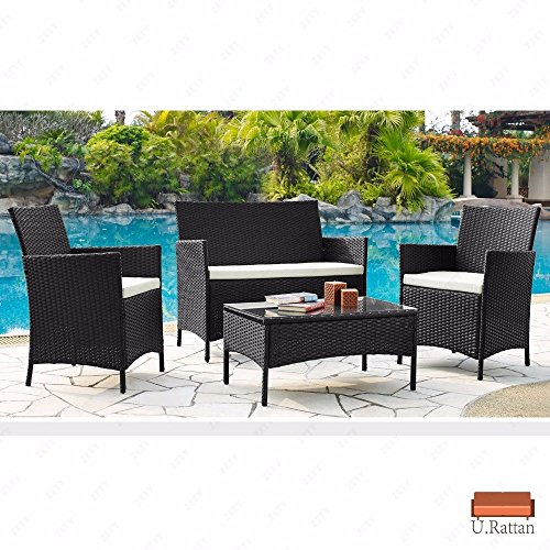 Rattan Patio Furniture Set Sofa Wicker Outdoor Lounge Garden Lawn Seat Deck Couch Chair (Chaise Unusual Lounge Chairs)