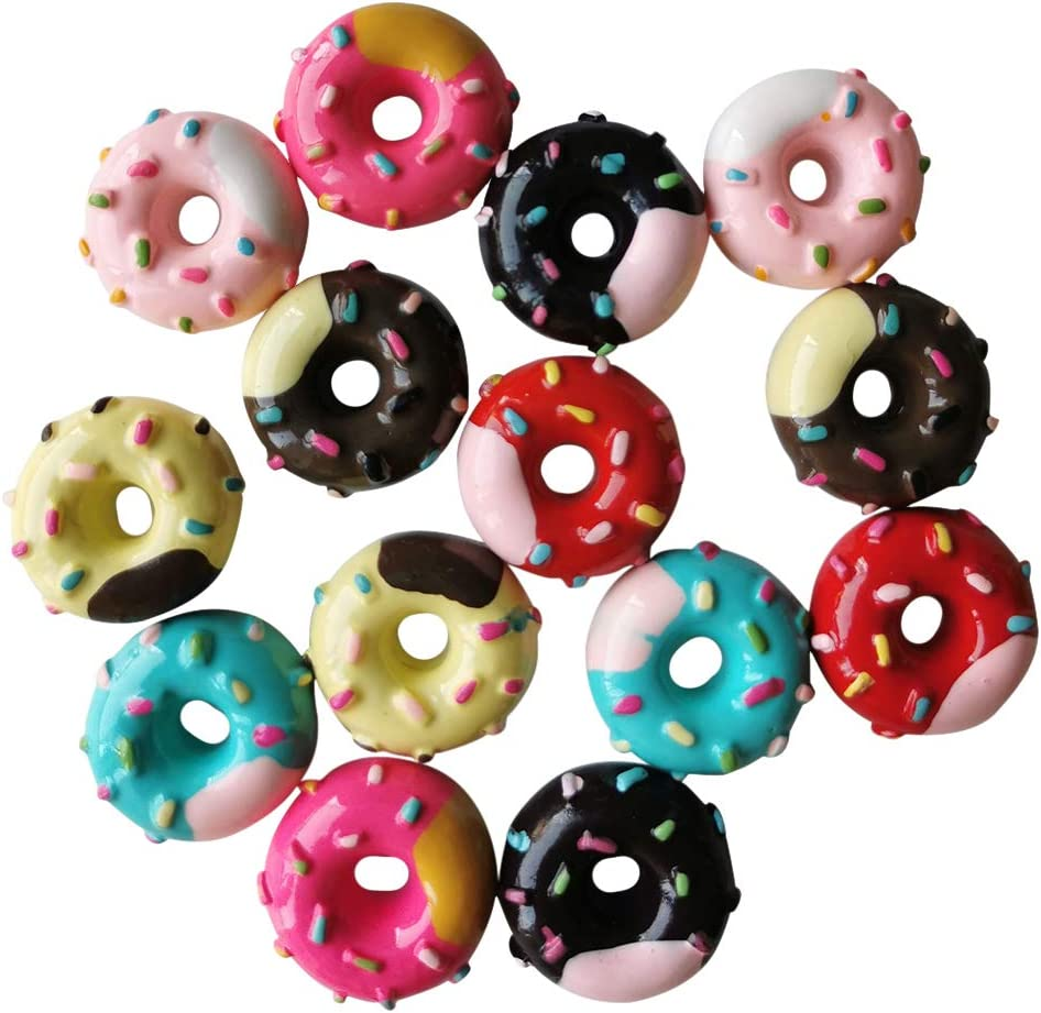 AMOBESTER Miniature Food Donuts Dollhouse Decoration Kitchen Accessories Mini Play Food for Children