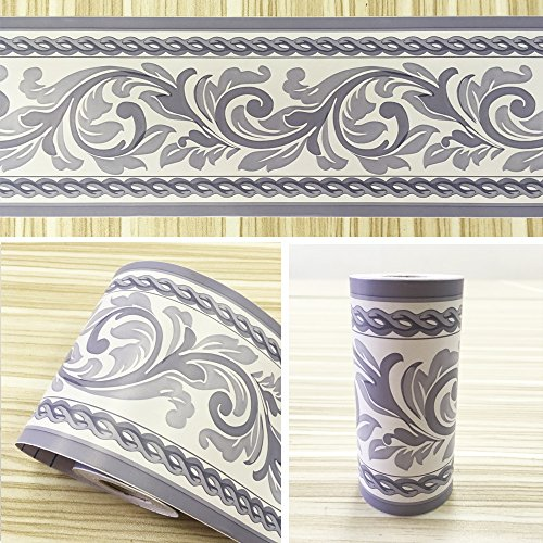 Simplelife4u moistureproof pvc wallpaper border peel for Wallpaper borders for your home