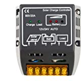 20A 12V/24V Solar Panel Charge Controller Battery Regulator Safe smart home arduino