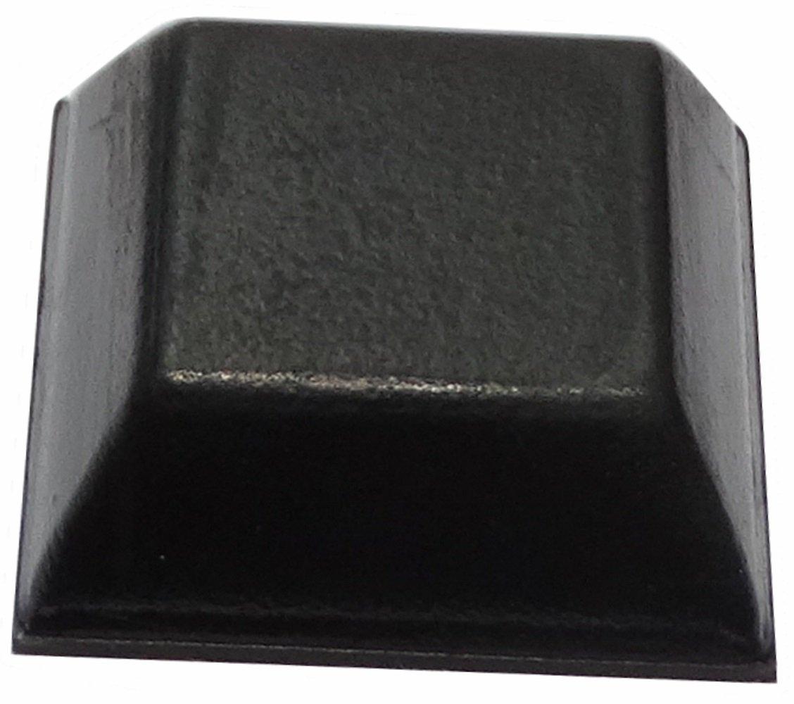 10 x Patas pies adhesiva de caucho A:7.6mm 20x20mm 14x14mm para muebles,forma cuadrada,color negro. AERZETIX