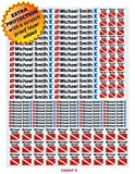 Signed Waterproof 3M Sticker Labels for Scuba Diving gear, Boating gear, Fishing gear, Kayak gear and Camping gear