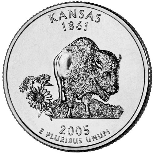 (2005-P Kansas State Quarter BU Roll)