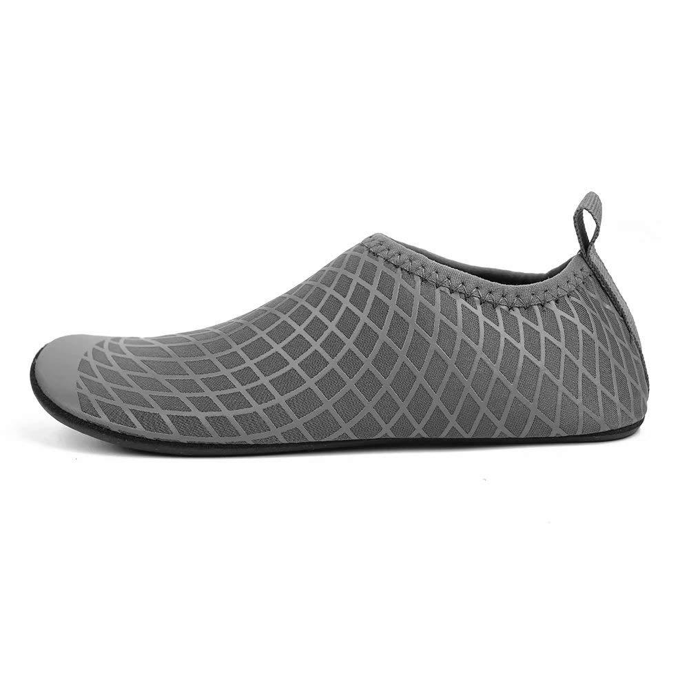 BODATU Boys Girls Swim Water Shoes Kids Quick Dry Barefoot Aqua Sock Shoes for Beach Pool K50