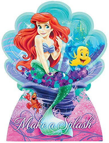 Jumbo Ariel Invitations Deluxe 8 count - The Little Mermaid Birthday Party Supplies