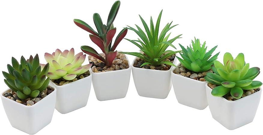 Nubry Mini Fake Succulent Plants