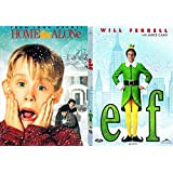 Christmas 2-Movie Home Alone & Elf DVD Holiday Double Feature Bundle Modern Classics