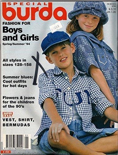 Special Burda, Fashion for Boys and Girls, Sewing Pattern Magazine ()