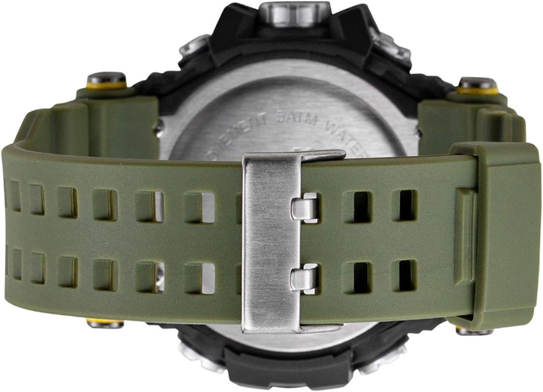 Outdoor Sport Multifonction /Étanche LED Lumi/ère Alarme Calendrier Date avec Bande De Silicone Bleu JTTM Montres De Sport des Hommes De Digital