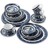 Johnson Brothers Willow Blue 20 Piece DinnerwareSet
