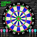 Light-up Magnetic Dart Board Game - Innovative Illuminated Kids Safe Dartboard Set with Glow-in-the-Dark Darts for Kids, Teens & Adults - Sports Gifts for Boys & Girls - Indoor or Outdoor Party Games