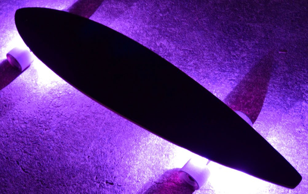 GlowCity UnderGlow Light Up LED Lights For Longboards,Skateboards and Scooters (Purple)