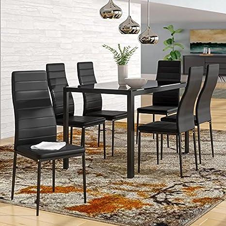 Amazon.com: IDS Home Juego de mesa de comedor con sillas y ...