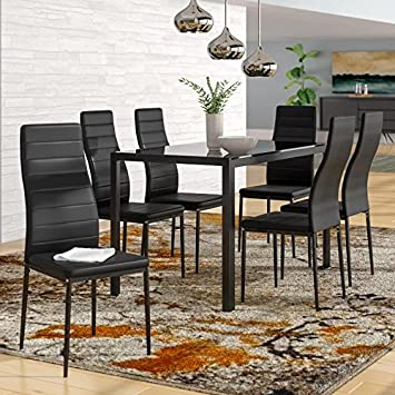 Terrific Amazon Com Ids Home Dining Table Chairs Set For 4 Kitchen Caraccident5 Cool Chair Designs And Ideas Caraccident5Info