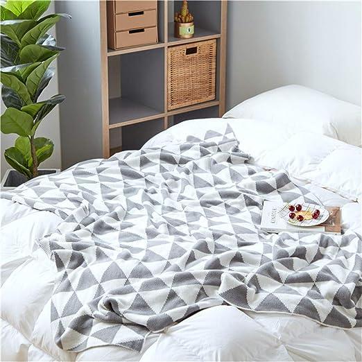 NQCDSJ Mantas para Cama Sobrecama Manta de algodón para el hogar Toalla de algodón Cubierto Manta Transpirable Manta de Punto de algodón, 130 * 160cm cálido: Amazon.es: Hogar