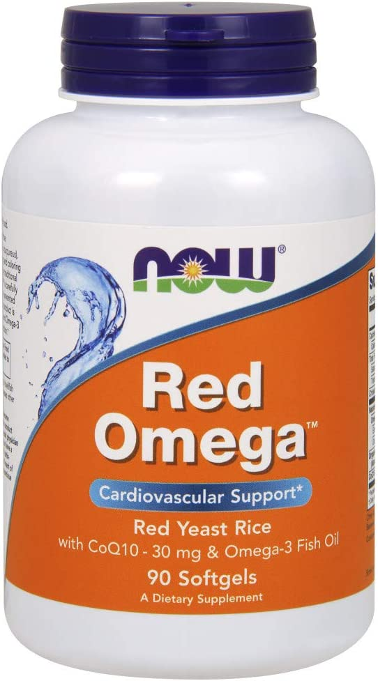 NOW Supplements, Red Omega with CoQ10 30 mg and Omega-3 Fish Oil, 90 Softgels