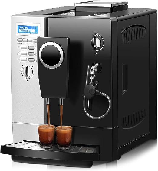 Cafetera automática Costway de acero inoxidable, cafetera con ...