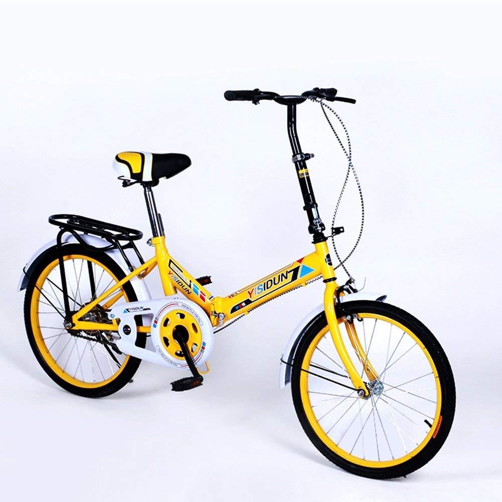 ファッション子供用自転車 161URE 20インチ折りたたみ自転車シングルスピード自転車男性と女性の自転車大人の子供の自転車  Yeow B07R9Y9WFW