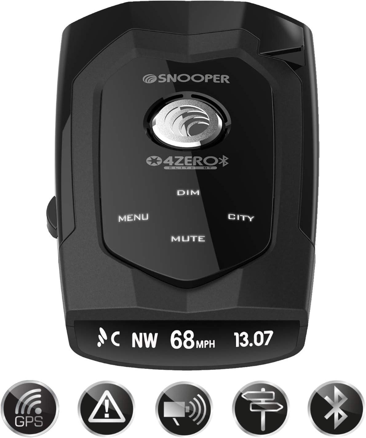 Snooper 4zero Elite Bt Gps Radar Laser Erkennung Gerät Mit Bluetooth Navigation