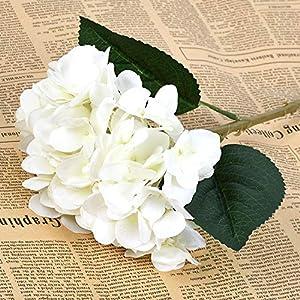 CoronationSun - Silk Hydrangea - 1pcs Real Silk Hydrangea Artificial Flowers Bouquet Wedding Decoration New Year Party Decor Flower 23
