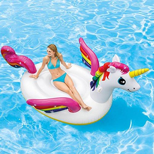 Intex Inflatable Mega Unicorn Island Float ()