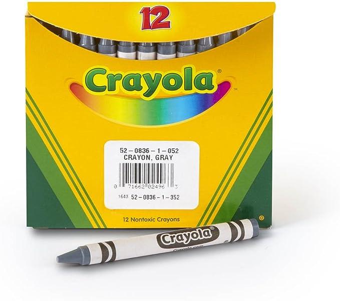 Regular Size Gray 52-0836-052 Crayola Bulk Crayons