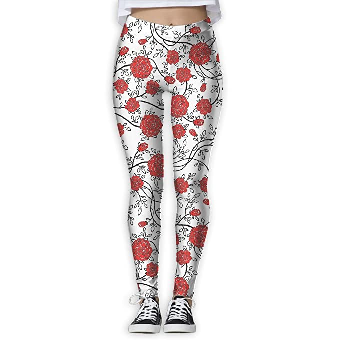 Homlife Floral Wallpaper 3D Printing Yoga Leggings Pants ...