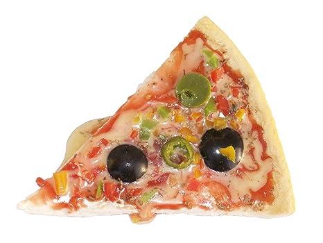 Food calamita pizza con lanature finto pizza pezzi magnetico
