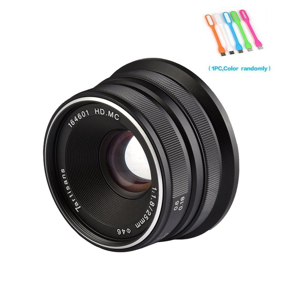 7artisans 25mm F1.8 Large Aperture Manual Focus Prime Fixed Lens Compatible for Fuji Cameras X-A1,X-A10,X-A2,X-A3,X-at,X-M1,XM2,X-T1,X-T10,X-T2,X-T20,X-Pro1,X-Pro2,X-E1,X-E2 -Black (25mm F1.8 Fuji) by 7artisans