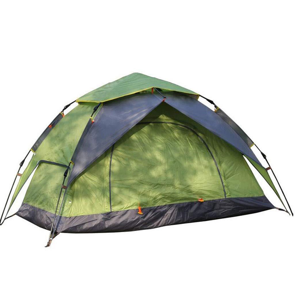 JBHURF Outdoor Camping Zelt Double Double People Automatisches Zelt Open Field Camping Zelt (Farbe : Grün)