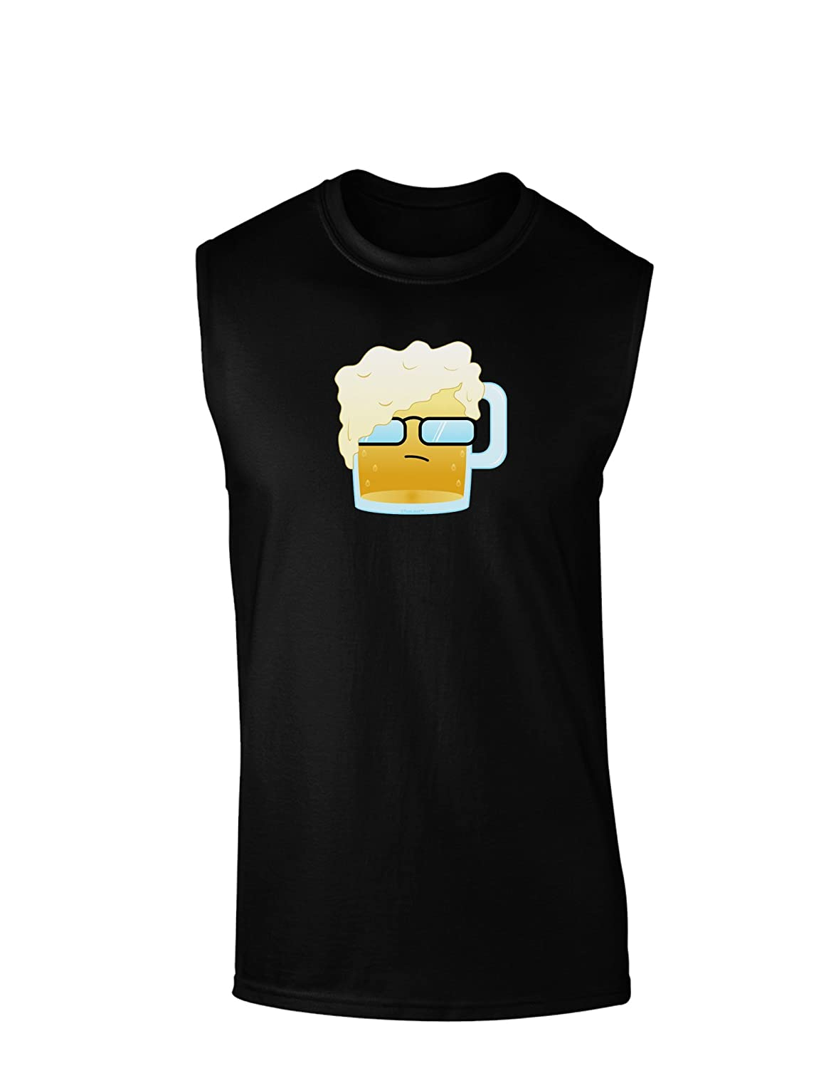 TooLoud Bartleby the Hipster Beer Dark Muscle Shirt