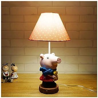 Pig Peggy Habitación para niños Lámpara de mesa pequeña ...