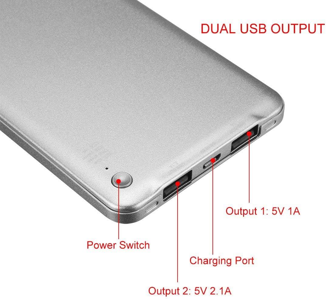 ZealMax 6000mAh Cargador portátil, extremadamente delgado ...