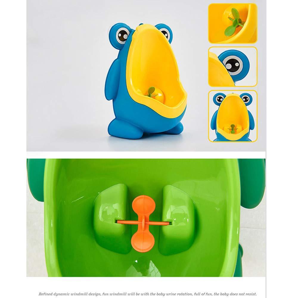 FBGood T/öpfchen Karikatur Frosch Pinkeln Trainer Baby Junge Urinal montiert Kinder 8 Monate-6 Jahre alt Gr/ün blau