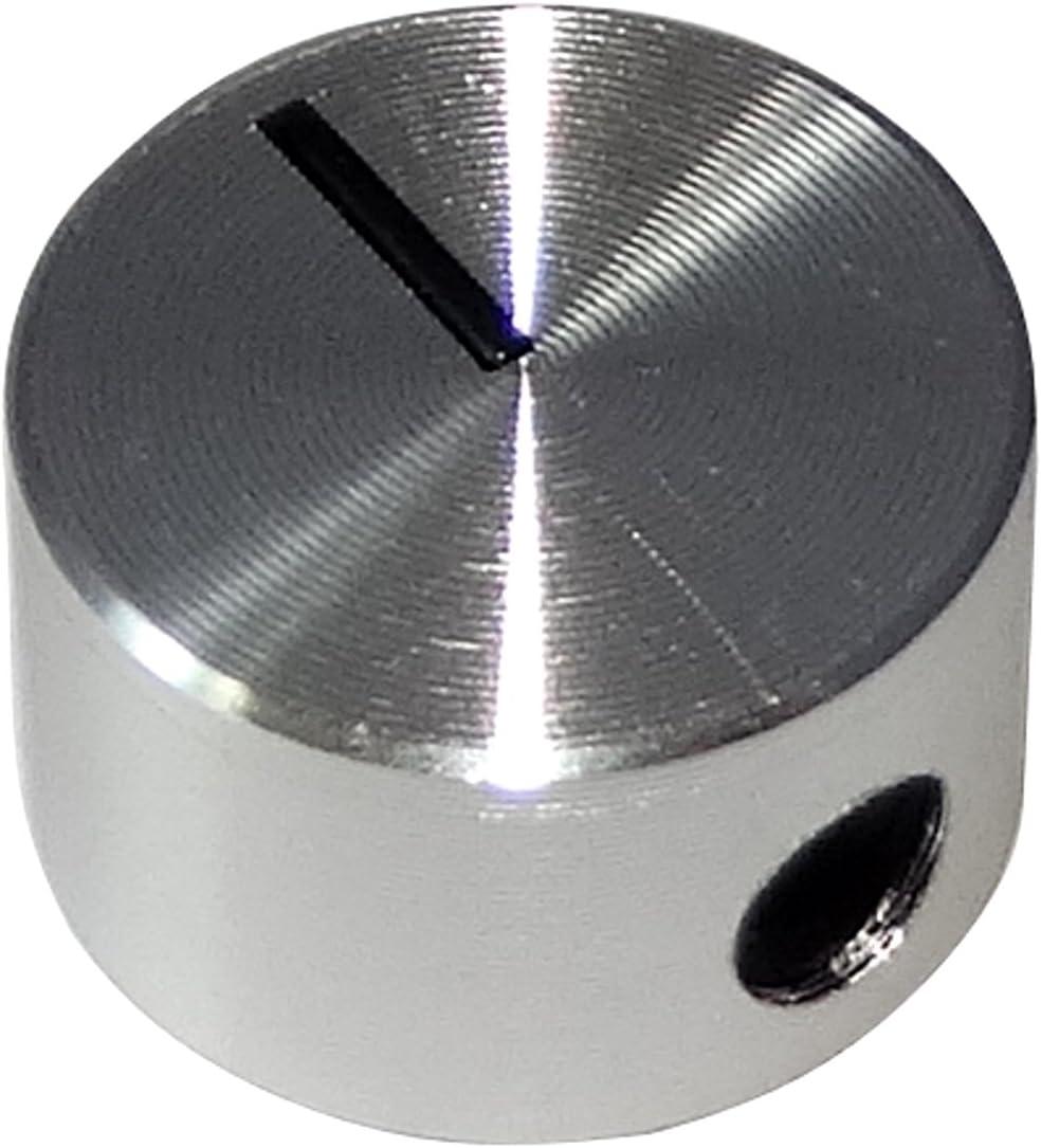 Bot/ón para potenci/ómetro 6mm /Ø12x7.1mm Color Plata C12486 AERZETIX