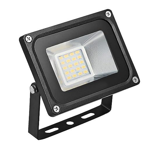 Foco proyector LED 10w para exteriores, 700LM, Blanco cálido 2800K-3500K resistente al agua IP65, luz amplia, luz de seguridad Floodlight