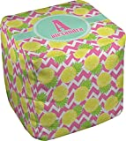 Pineapples Cube Pouf Ottoman - 13'' (Personalized)