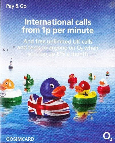 (UK United Kingdom Mobile Cell PAYG SIM Card on the o2 Network)