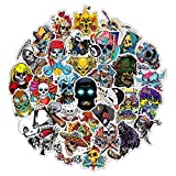 zombie laptop decal - [Halloween Sticker] Skull Sticker Pack 100 pcs Gumindaris Cartoon Vinyl Cool Stickers for Mac Computer Car Motorcycle Bicycle Luggage Decal Graffiti Patches Skateboard PC Laptop Stickers - Waterproof