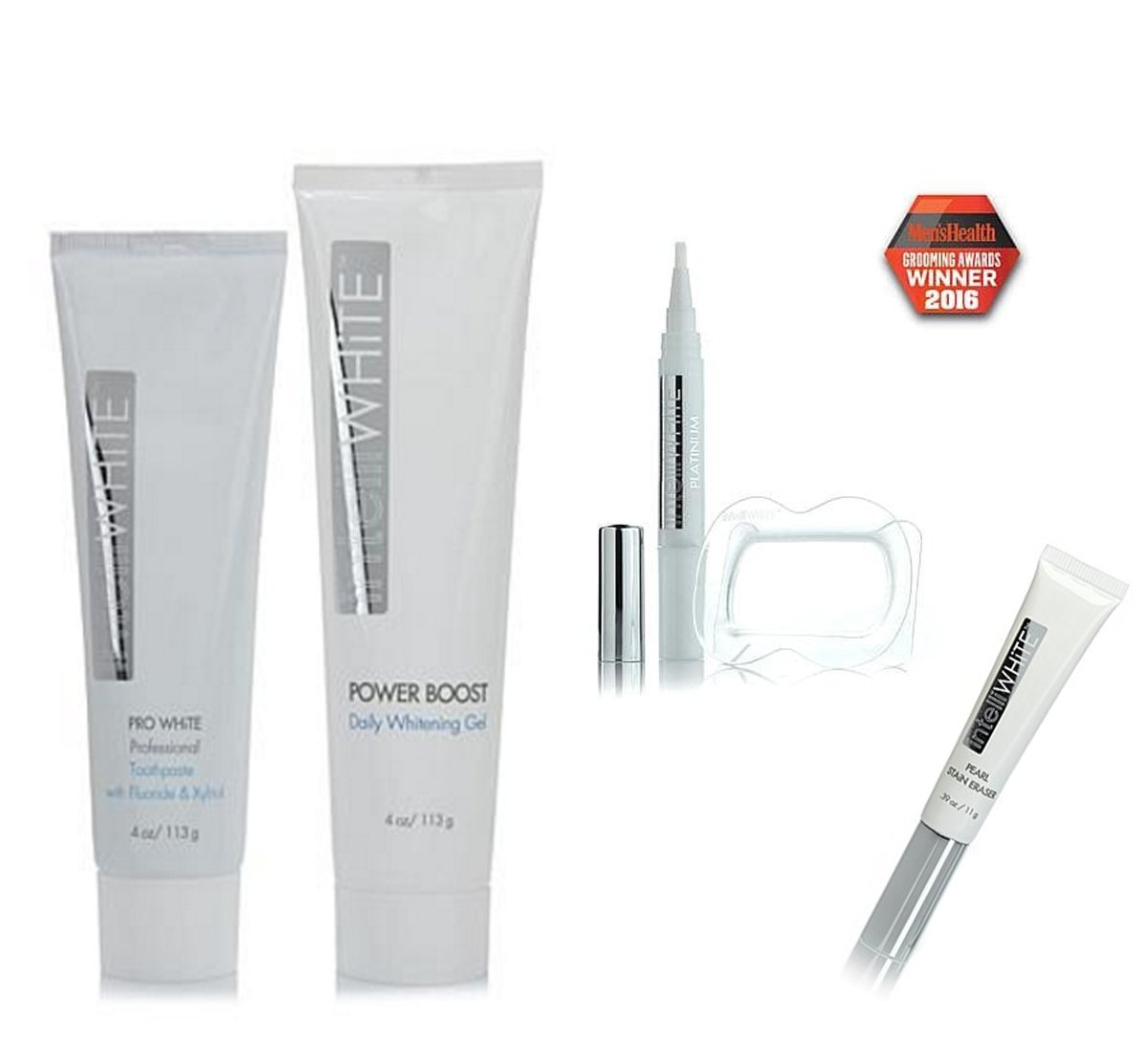 IntelliWHiTE 5-Piece Platinum Whitening System and Maintenance Kit ~ Whiten & Brighten
