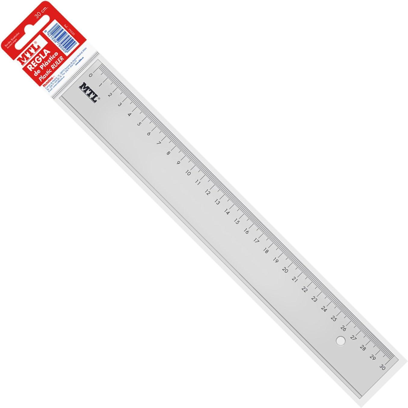 MTL 79550 - Regla, 30 cm: Amazon.es: Oficina y papelería