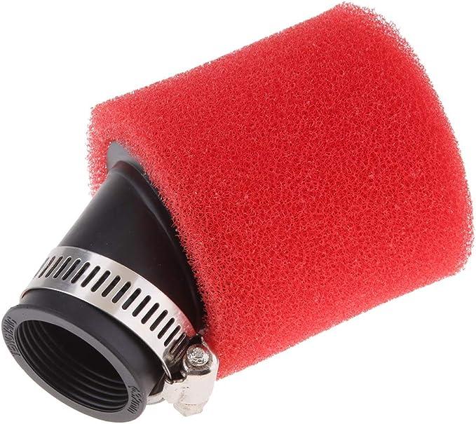 Sharplace Rouge 32mm Angle Pli/é Mousse Filtre /à Air Pod Nettoyeur Pit Quad Dirt Bike ATV Buggy