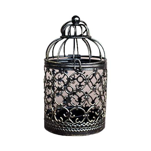 Portavelas hueco para colgar, vintage, jaula para pájaros ...